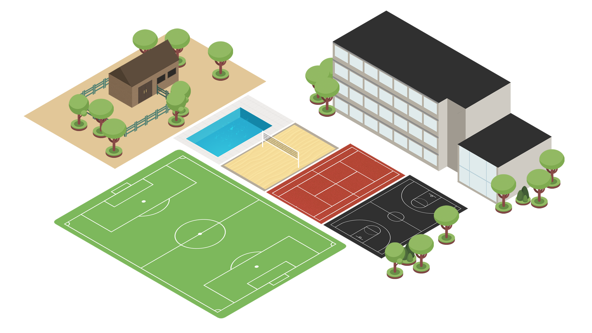 International School Altdorf Isometric Map